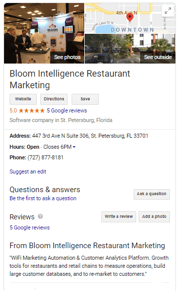 Google for Restaurant Marketing