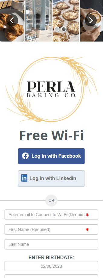 WiFi Landing Page Example